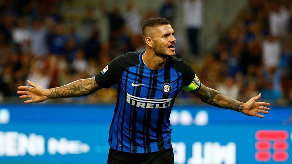 Mauro Icardi scores for Inter
