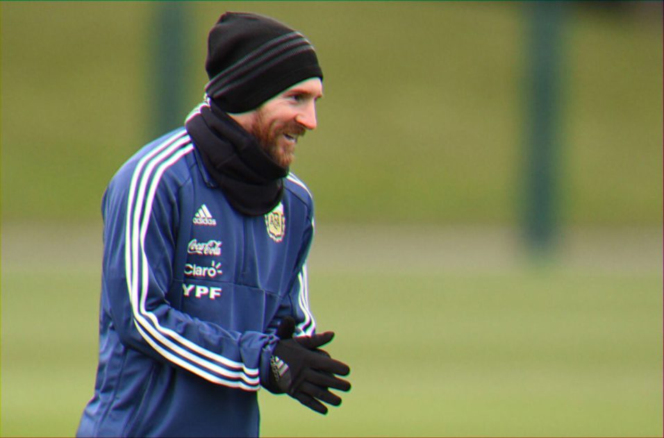 Lionel Messi Argentina training