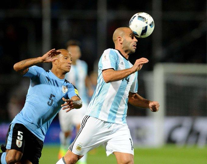 Mascherano argentina vs uruguay