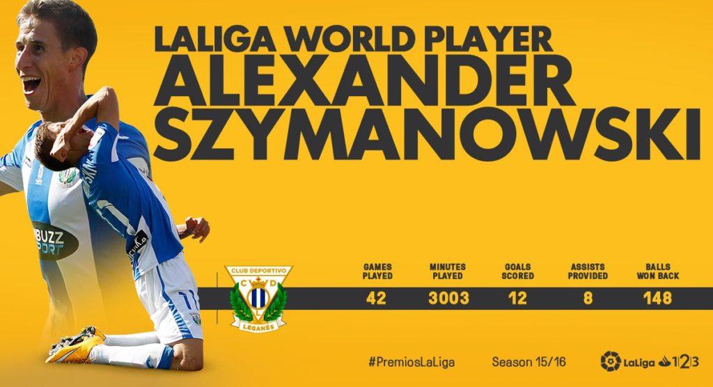 Alex SZYMANOWSKI bedt player of second division