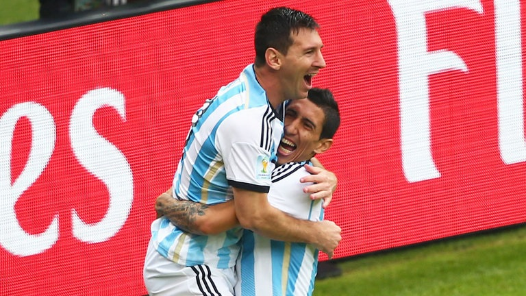 Lionel Messi and Angel Di Maria: Team mates for Argentina, rivals in the Champions League