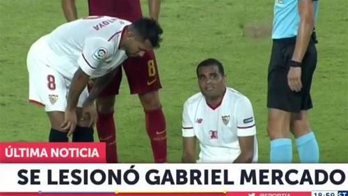 Gabriel Mercado injured Sevilla