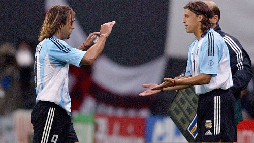 Gabriel Batistuta Hernan Crespo Argentina
