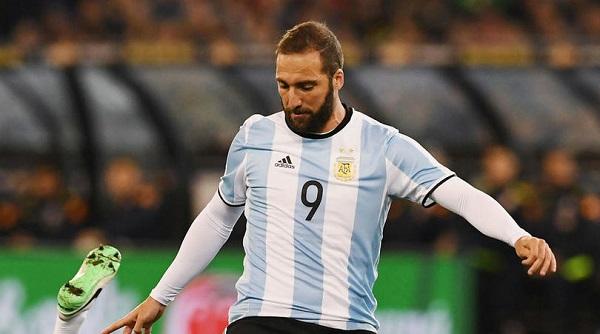 The Argentina team - Forwards Gonzalo Higuain