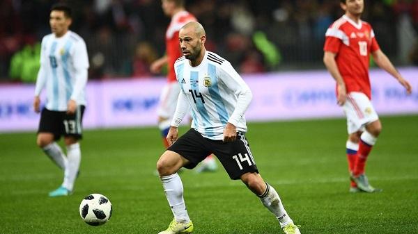 The Argentina team - Midfielders Javier Mascherano