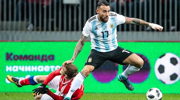 The Argentina team - Defenders Nicolas Otamendi