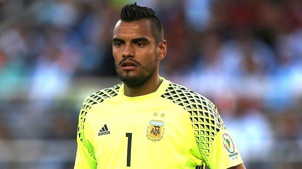 The Argentina team - Goalkeepers Sergio Romero